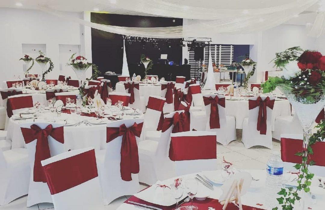 Salle du Domaine Victoria pour mariage rouge
